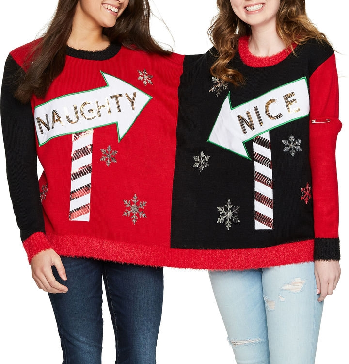 IT S OUR TIME Two Person Ugly Christmas Sweater-Juniors - Northpark