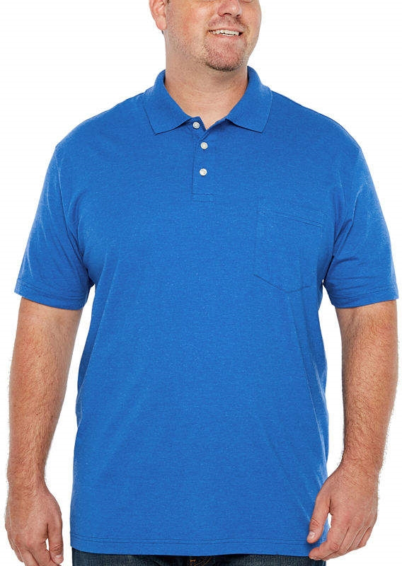 bcbb5d769c9f THE FOUNDRY SUPPLY CO. The Foundry Big & Tall Supply Co. Easy Care Quick  Dry Short Sleeve Jersey Polo Shirt Big and Tall - Northpark