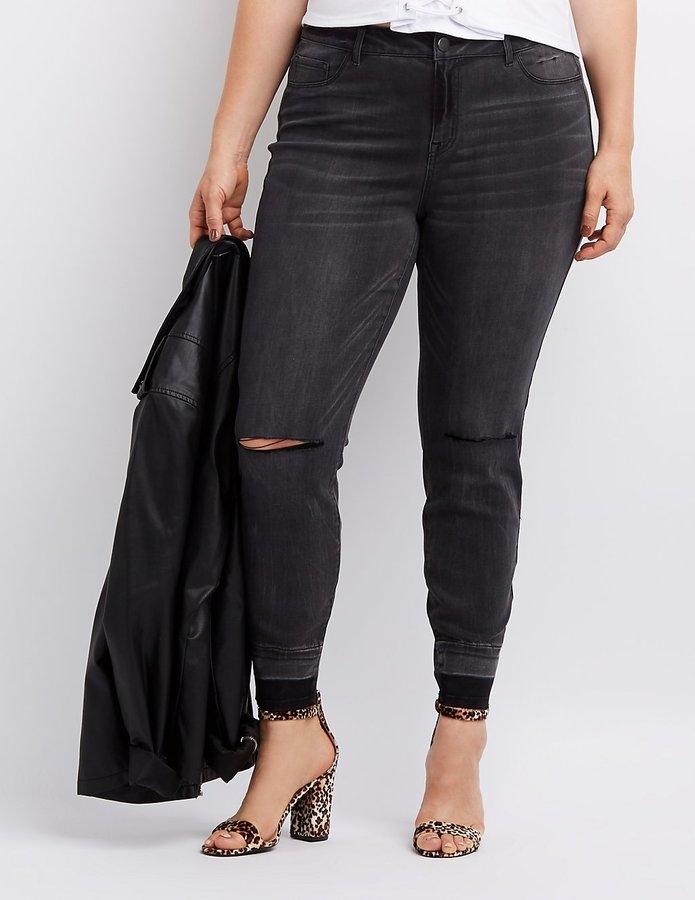 2f108f6559f Plus Size Refuge Skin Tight Legging Destroyed Jeans - Northpark