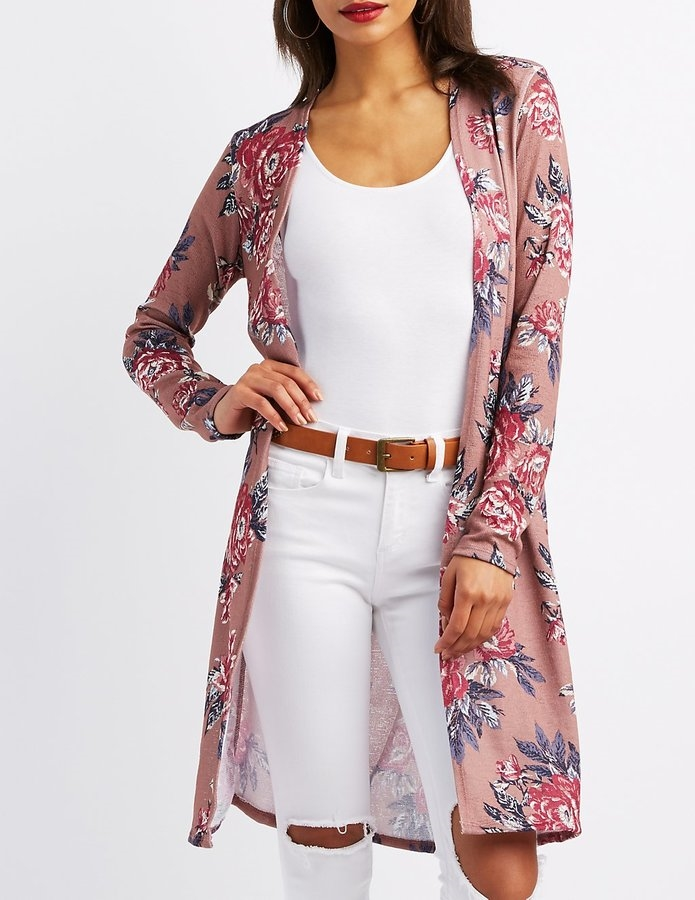 274cca939 Floral Open-Front Duster Cardigan - Eastridge