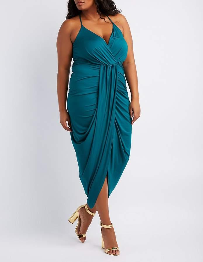 fe225952a91 Plus Size Surplice Tulip Maxi Dress - Northpark