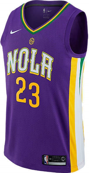 Men s New Orleans Pelicans NBA Anthony Davis City Edition Connected Jersey 8ba851a38