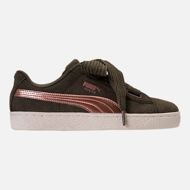 3c9dd1be37a9 girlss grade school puma suede heart copper casual shoes