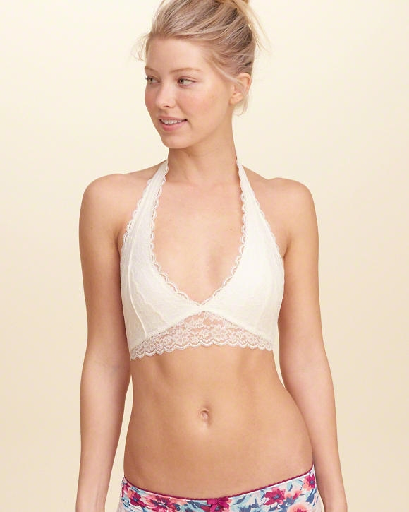 82d2abf0795 Lace Halter Bralette With Removable Pads - Northpark