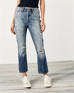 7474b425cb4 Embellished High-Rise Vintage Straight Ankle Jeans