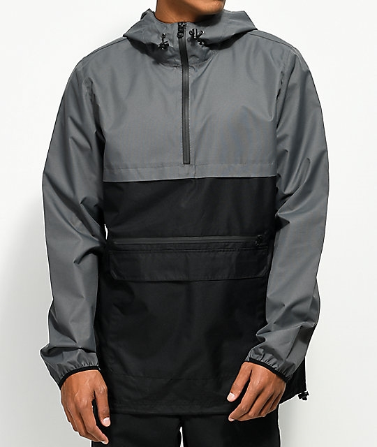 36f1110b695b Empyre Camron Charcoal   Black Anorak Windbreaker Jacket - Eastridge
