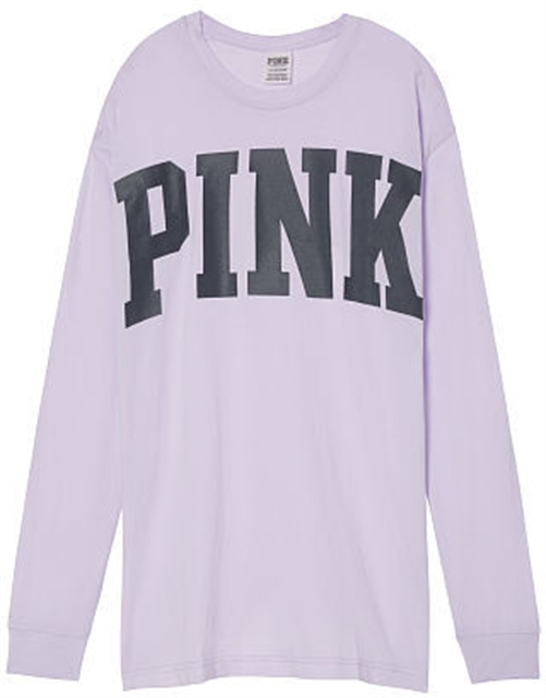 1f4e6e0cc2104 PINK Vintage Washed Long Sleeve Campus Tee - Northpark