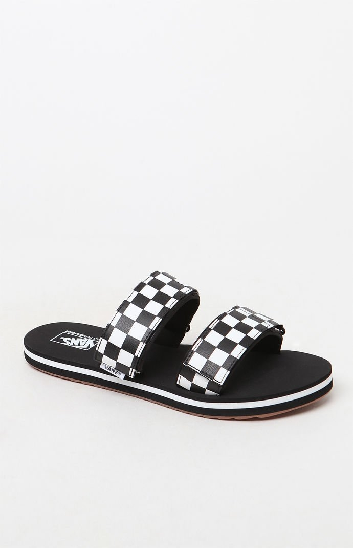 7c6c322a179f Vans Womens Women s Cayucas Slide Sandals - Black white - Shops at South  Town
