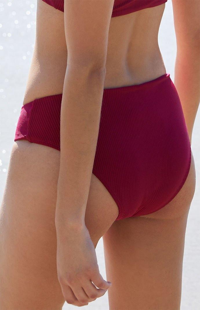 4372ee9ea8 Kirra Womens Hook-And-Eye High Cut Bikini Bottom - Wine - Northpark