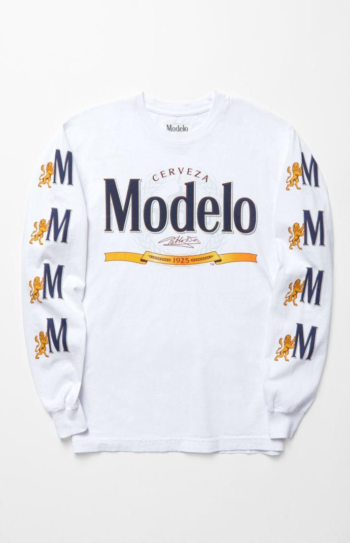 PacSun Mens Modelo Long Sleeve T-Shirt - White - Northpark 292e93769