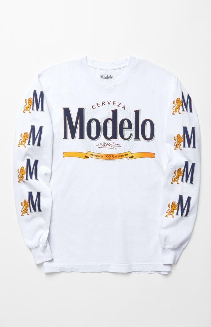 PacSun Mens Modelo Long Sleeve T-Shirt - White - Northpark 292e93769