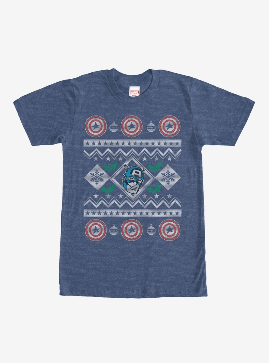 Marvel Captain America Ugly Christmas Sweater T Shirt Northpark