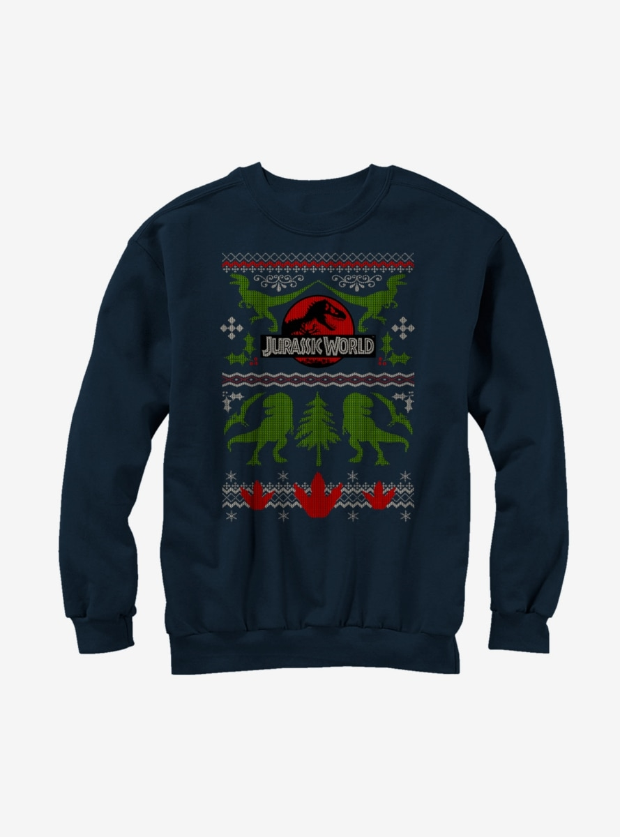 Jurassic Park Ugly Christmas Sweater Print Sweatshirt - Northpark