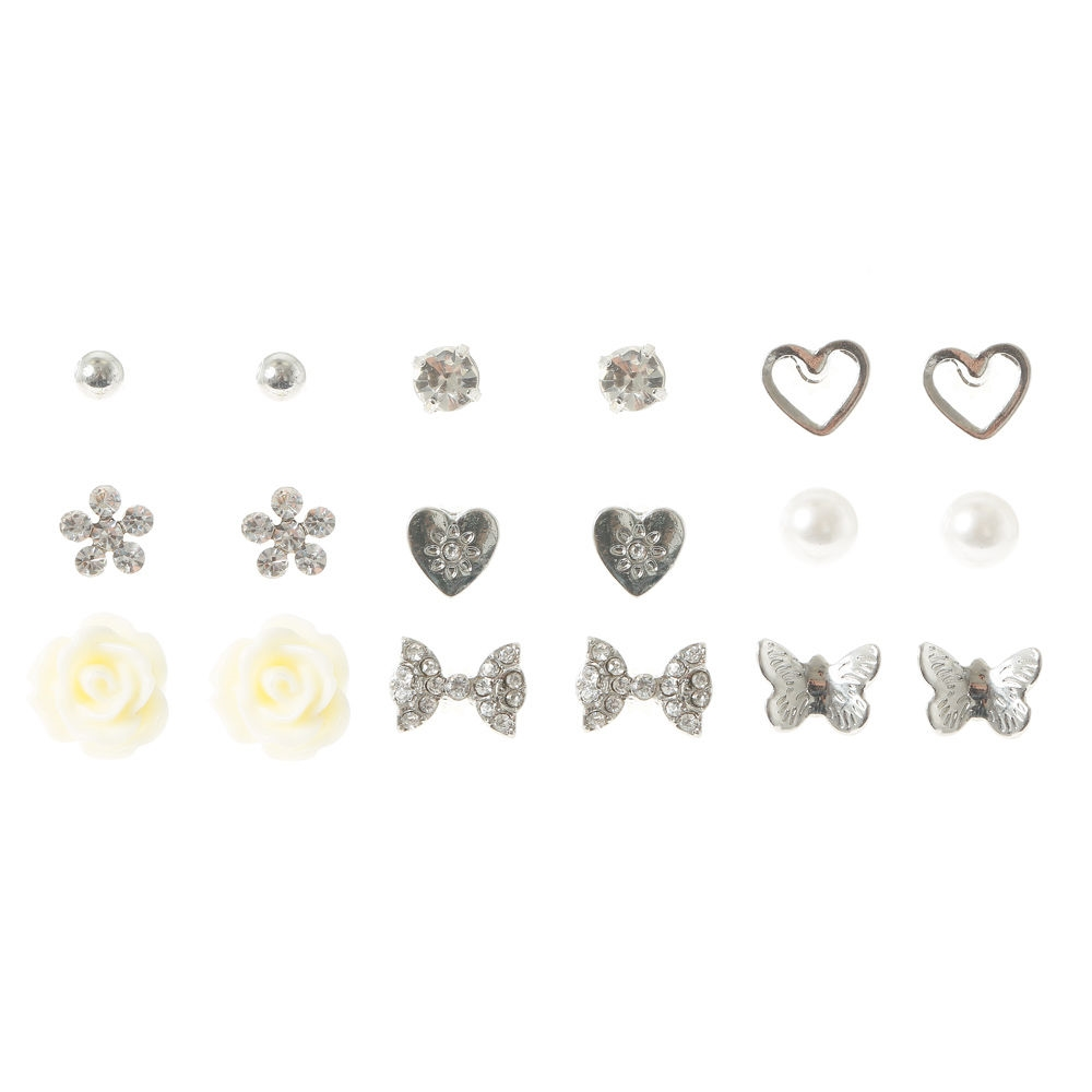 4a5af8e61 Claire's Rose Love Stud Earring Set Gold - Northpark
