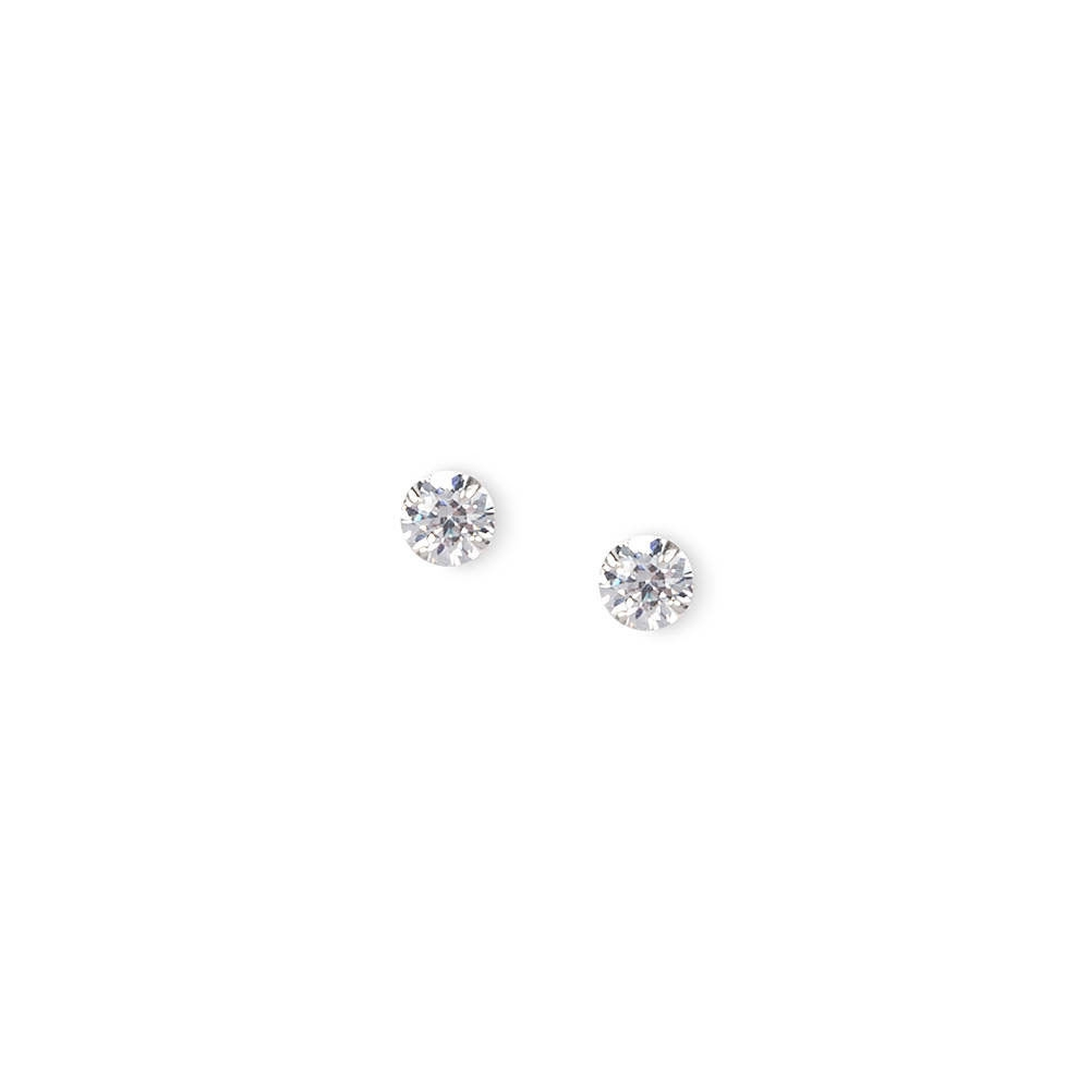 3999068d9 Claire's 4MM Sterling Silver Round Cubic Zirconia Martini Set Stud Earrings  Silver - Shops at South Town