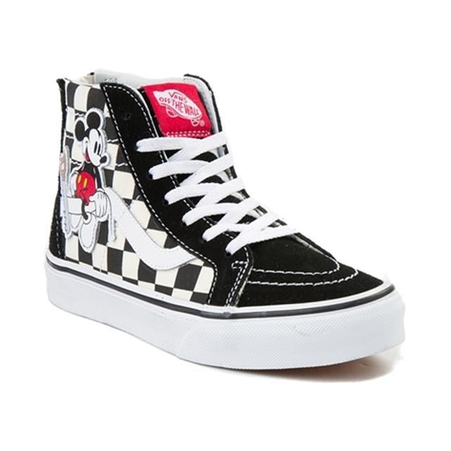Disney x Vans YouthTween Sk8 Hi Zip Chex Skate Shoe Shops