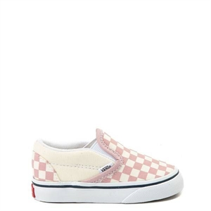 2056203285 Vans Slip On Pink and White Checkerboard Skate Shoe - Baby   Toddler