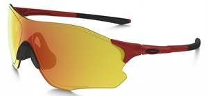 OAKLEY EVZERO PATH RED/GOLD FINGERPRINT W/ FIRE IRIDIUM