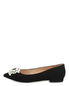 MANEA Glittery Bow Ballerina Pumps