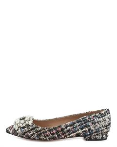 MANEA Bejeweled Tweed Flats