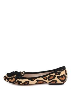 ELILA Leopard Print Tassels Loafers