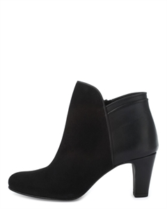 LIJI Suede and Leather Ankle Boots