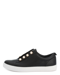 ELOUMI Pearl Rivets Slip-on Sneakers