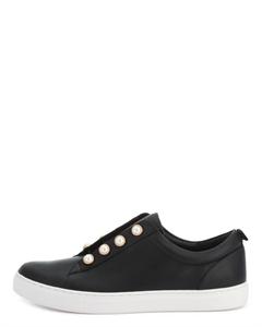 ELOUMI Pearl Rivets Slip-on Sneakers