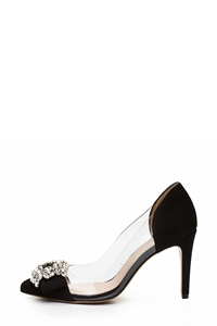 MOVI/MET Jewel Buckle Heels
