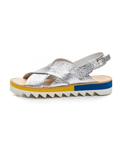 VAFILI/MET Cross Front Sandals