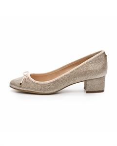 JAXELLE/GLIT Classic Round Toe Block Heel Pumps