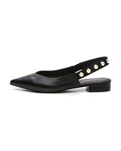 VANEL Sling-back Leather Flats