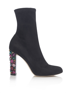 Jimmy Choo Sock Boot with Bejeweled Heel