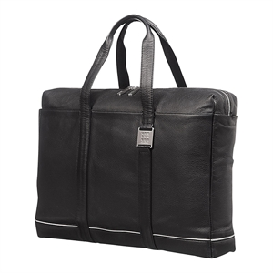 Moleskine Lineage Leather Bag - Briefcase Black