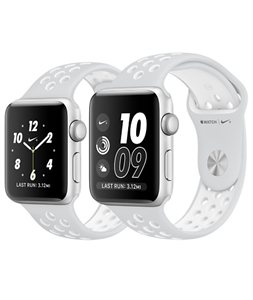 Apple Watch Nike+ Silver Aluminum Case with Pure Platinum/White Nike Sport Band + 38mm Case