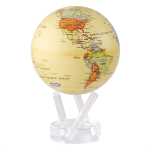 Mova Globe - World Map - Antique Beige