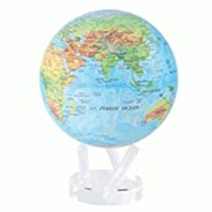 """Mova Globe - World Map - Blue with Relief Map - 8.5""""MG-85-RBE"""