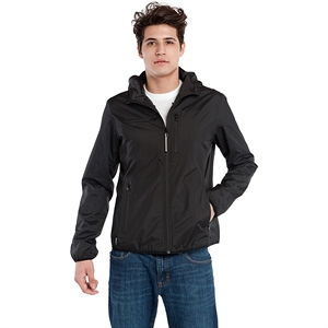 BAUBAX Windbreaker Travel Jacket for Male - Black - L Size
