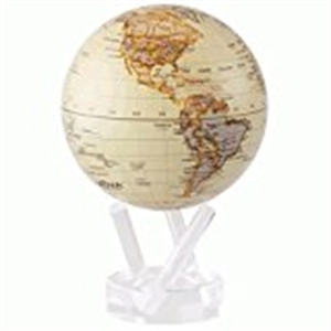 "Mova Globe - World Map - Antique Gloss Finish - 6""MG-6-ATW"