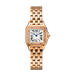 Panthere de Cartier watch in pink gold with diamonds