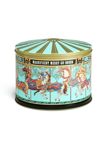 MERRY-GO-ROUND MUSICAL BISCUIT TIN