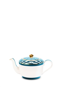SUPERSTRIPE MEDIUM TEAPOT – TURQUOISE