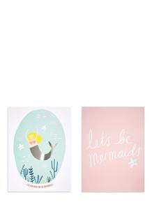 Mermaid art prints set