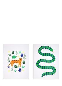 Jungle art prints set
