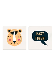 Easy Tiger temporary tattoos