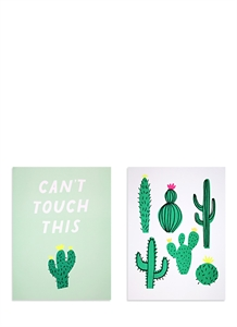 Cactus art prints set
