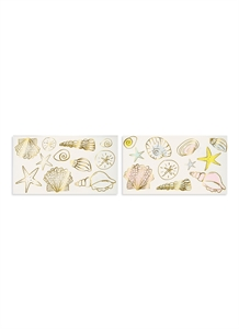 Seashells temporary tattoos