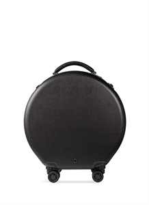 Round carry-on spinner suitcase – Black