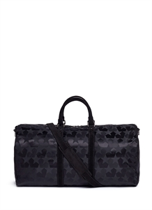Star jacquard duffle bag