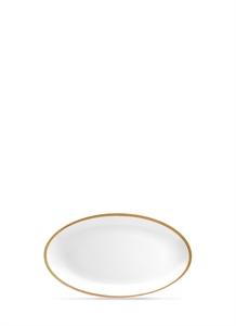 Soie Tressée large oval platter – Gold